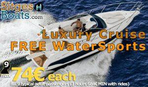 sitges boats charter hire rental boat atlantis 315-sc/